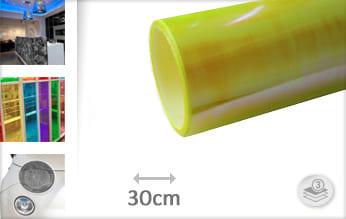Flipflop geel lampen folie