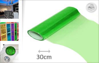 Groen doorzichtig folie