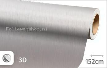 Geborsteld aluminium zilver folie