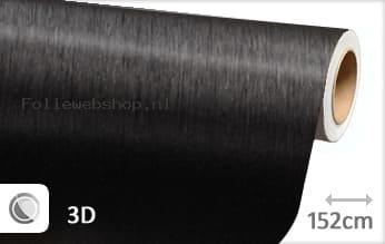 Geborsteld aluminium zwart folie