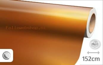 Glans metallic oranje folie