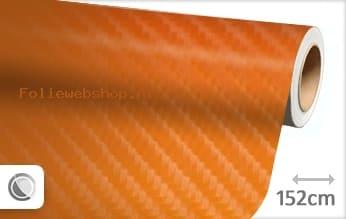 Oranje 4D carbon folie