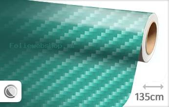 Turquoise 2D carbon folie