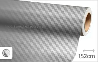 Zilver chroom 3D carbon folie