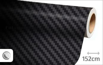 Zwart carbon folie HQ