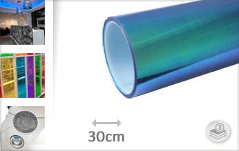 Flipflop blauw transparant folie